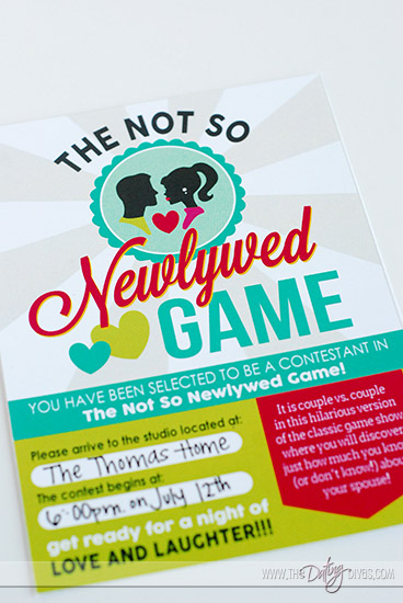 Not So Newlywed Game Free Printable invitation