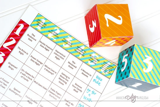 Free Printables Date Night Dice
