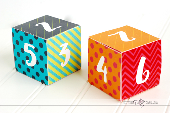 Colorful, Free Printable Dice