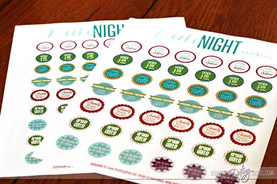 free printable date night calendar stickers
