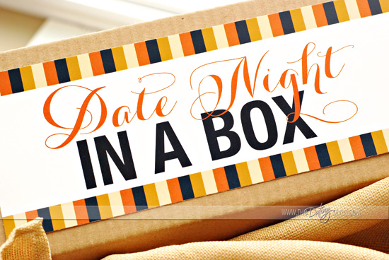 Date Night in a Box label