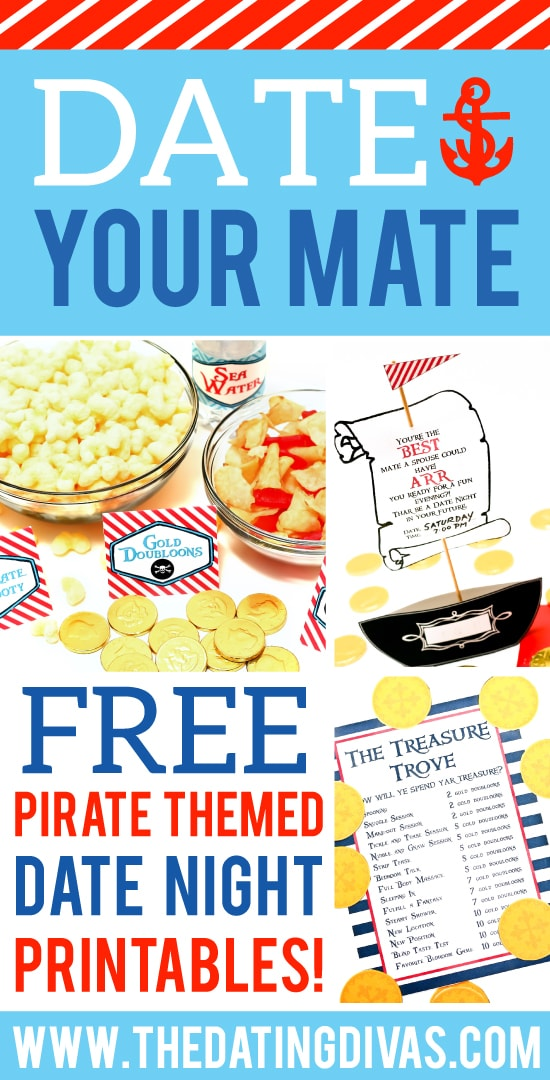 Pirate Themed Date Night Free Printables