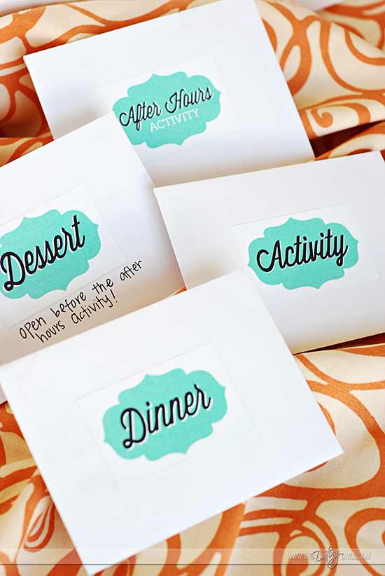 Date Night Swap envelopes