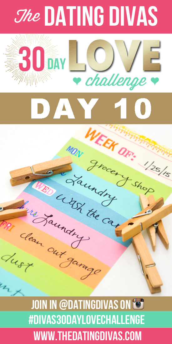 To Do List - Dating Divas 30 Day Love Challenge