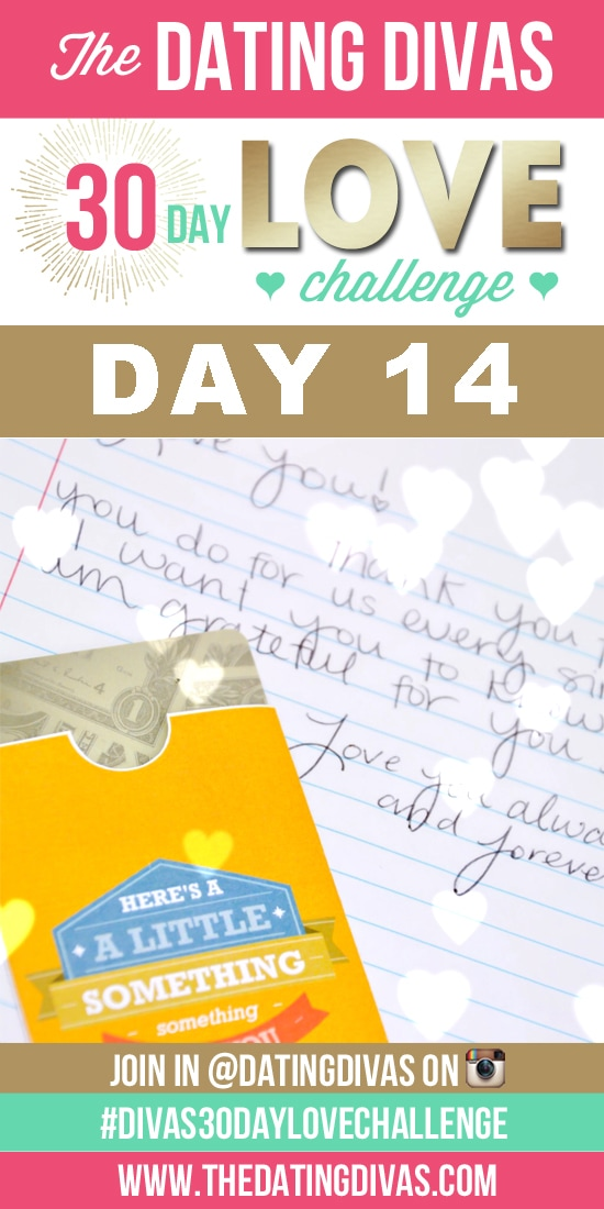 Love note wallet surprise - Dating Divas 30 Day Love Challenge