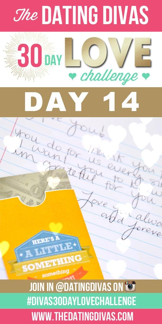 Love note wallet surprise - Dating Divas 30 Day Love Challenge