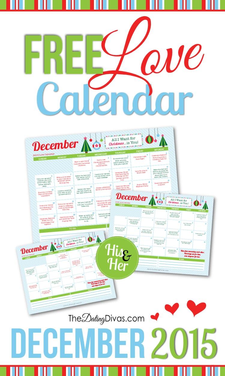 Dating divas december calendar