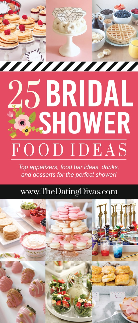25 most creative bridal shower food ideas