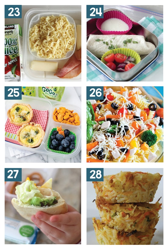 Non-Sandwich Easy School Lunches