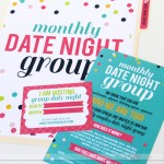 couples date night invite and assignment cards