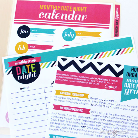 couples date night organization materials