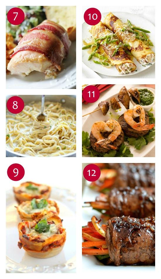 Dinner Ideas for Valentine's dinner at home