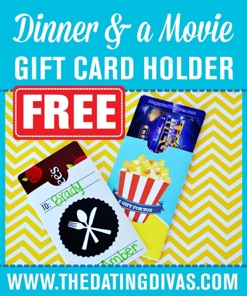 Date Night Gift Card Holders