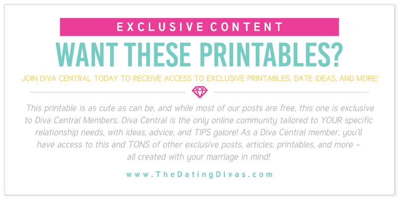 Diva Central Exclusive Printables
