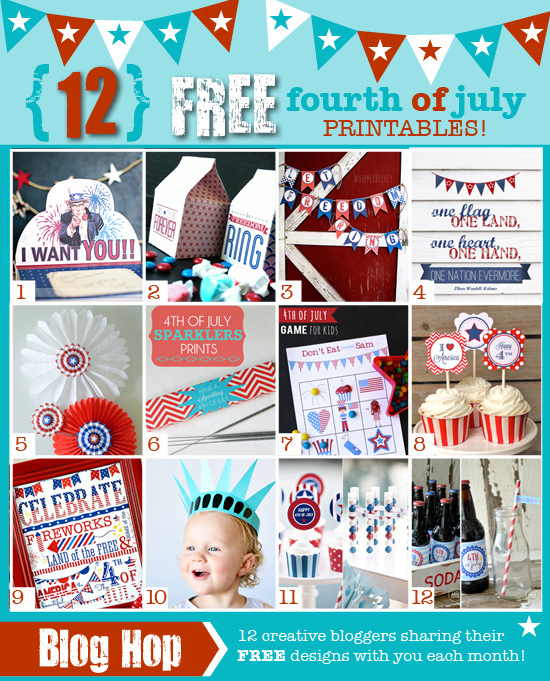 12 Free 4th of July Printables... Celebrate! the36thavenue.com