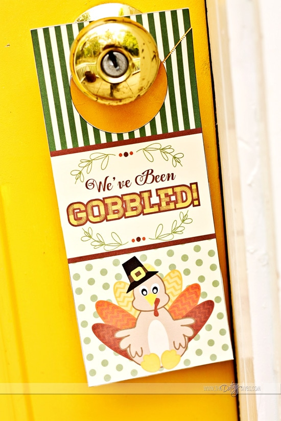 You've Been Gobbled Door Hanger