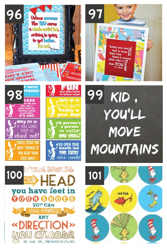 Dr. Suess Printables
