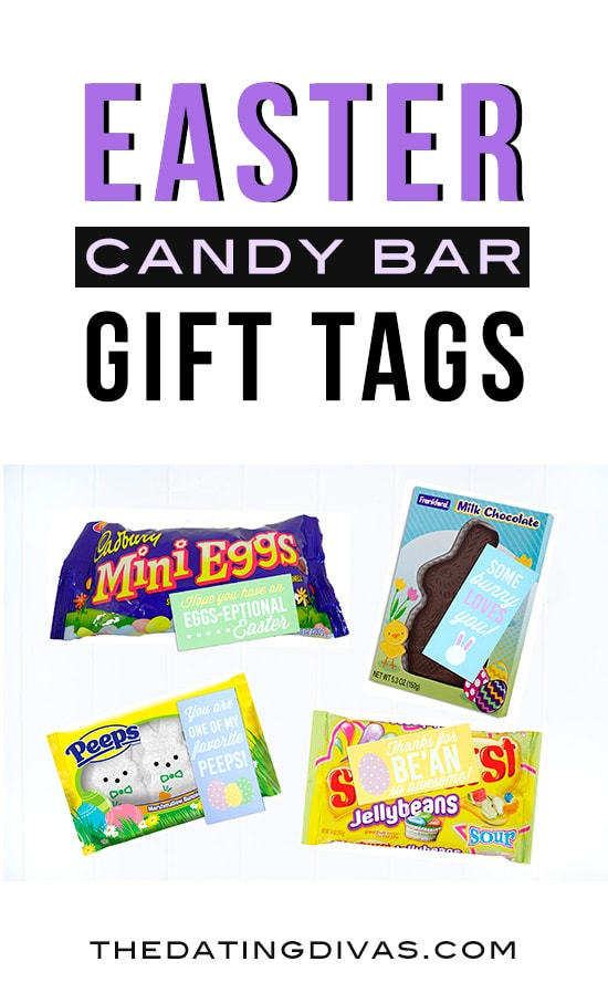 Easter Candy Bar Gift Tags! Free printables from The Dating Divas
