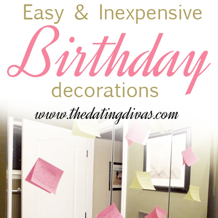 easy and inexpensive birthday decoration ideas