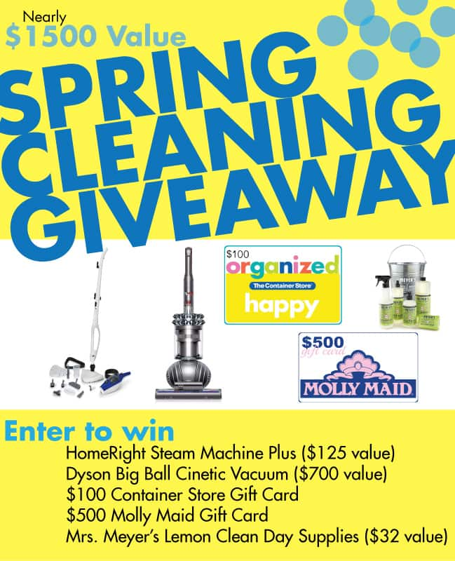 Enter to Win Spring Cleaning Giveaway