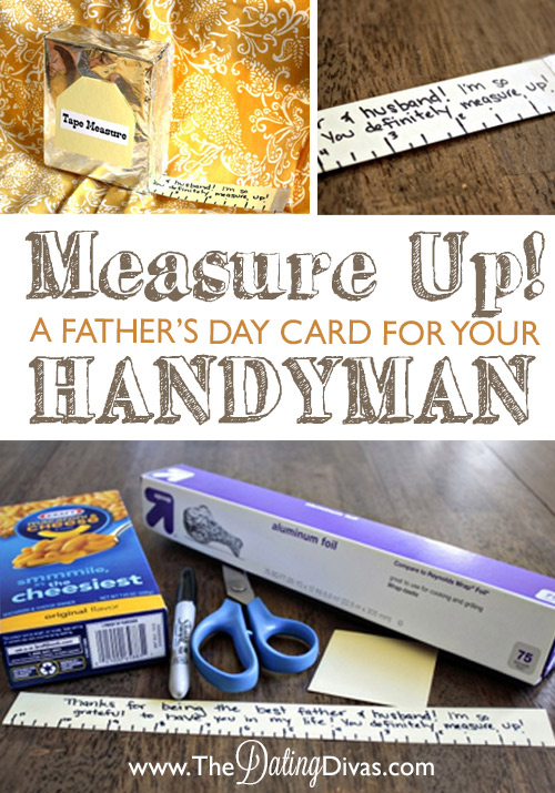 Measure Up Fathers Day Card DIY Tutorial