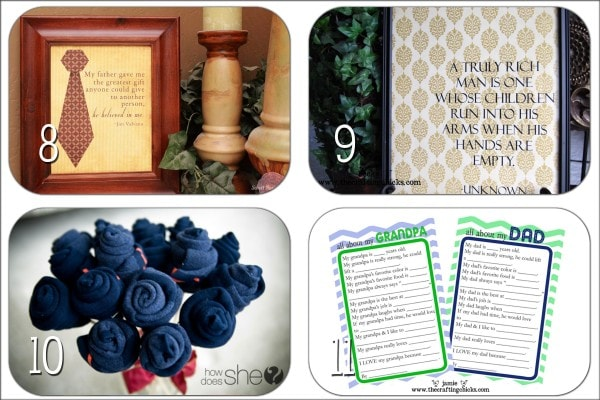 Father's Day Round-Up: Quick & Easy Ideas! Simple & Inexpensive gifts for dad & grandpa!