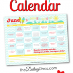 Free Printable June 2015 Love Calendar
