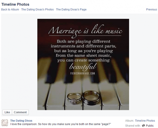 Facebook Marriage Quote - Join us on Facebook to see more!