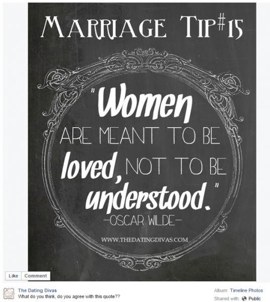 Facebook Marriage Tip - Join us on Facebook to see more!
