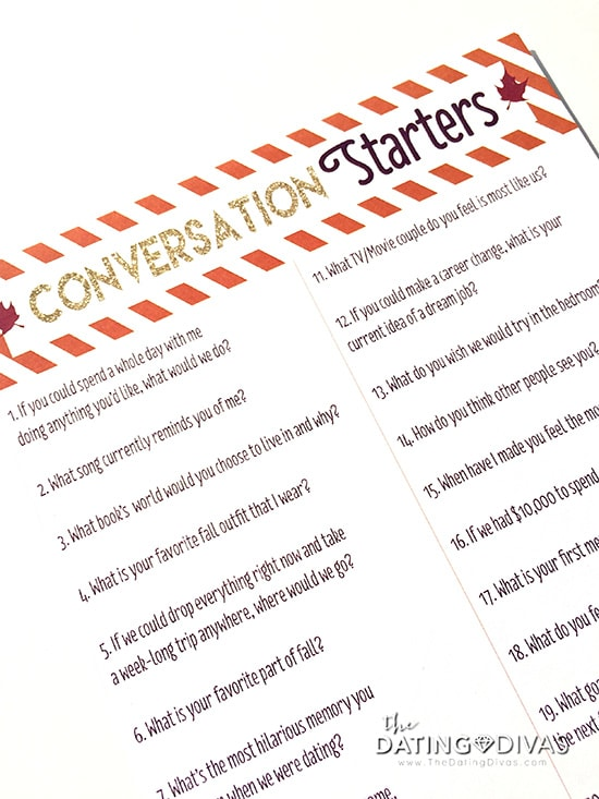 Fall Date Night Conversation Starters