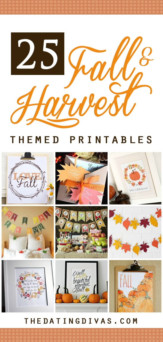 Harvest Printables