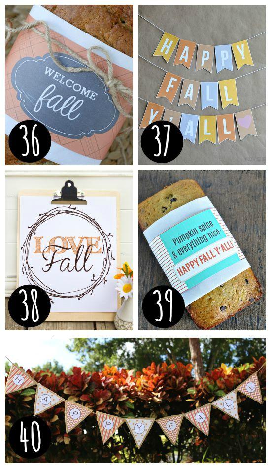 Fall Food Labels