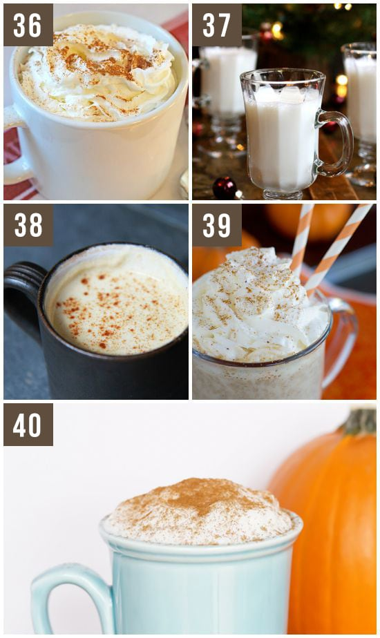 Fall Drinks and Steamer Recipes