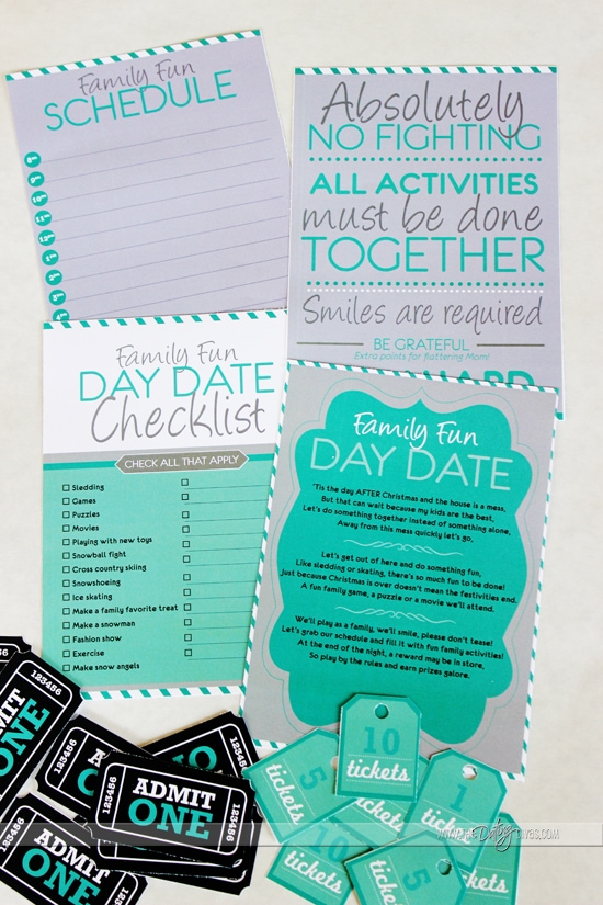 family fun date printables
