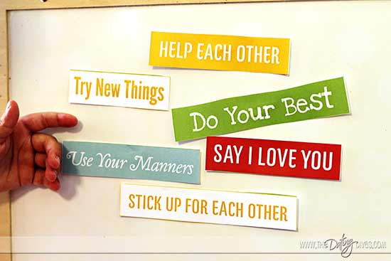 Family Mission Statement Magnet Words Cut