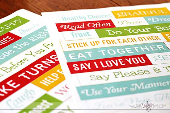 Family Mission Statement Magnet Words