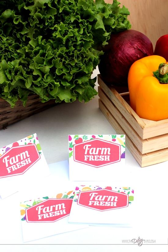 Farmer's Market Food Label Tents