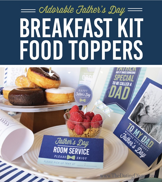 Father's Day Breakfast in Bed Food Toppers