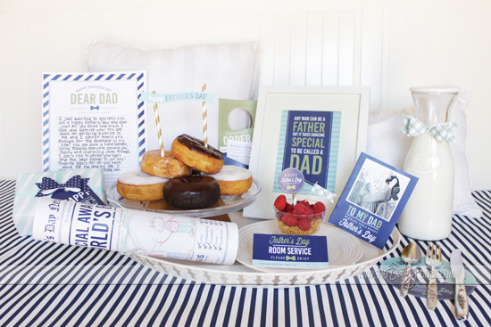 Father's Day Breakfast in Bed Printables