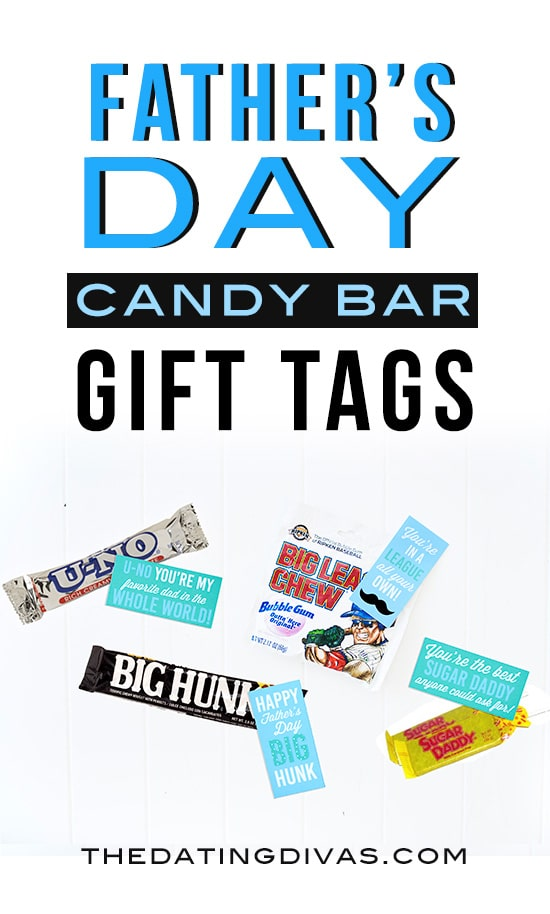 Father's Day Candy Bar Gift Tags! Free printables from The Dating Divas