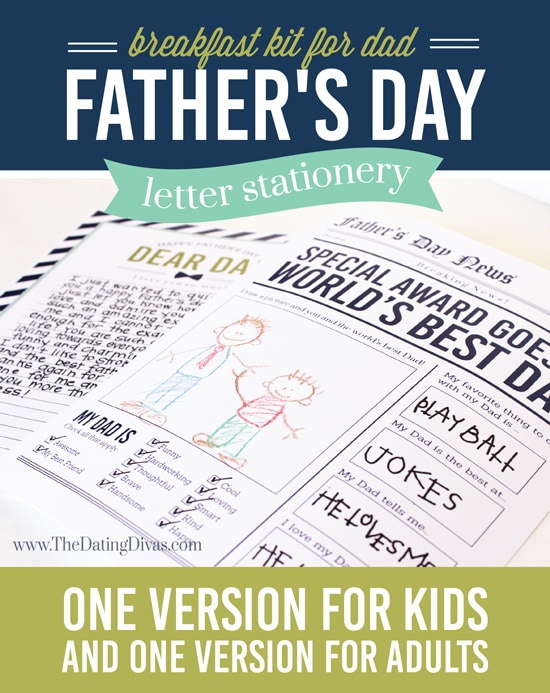Father's Day Letter Stationery