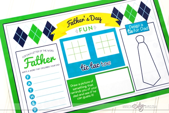 Father's Day Placemat Games