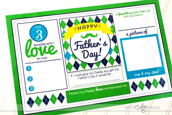 Father's Day Placemat Printable