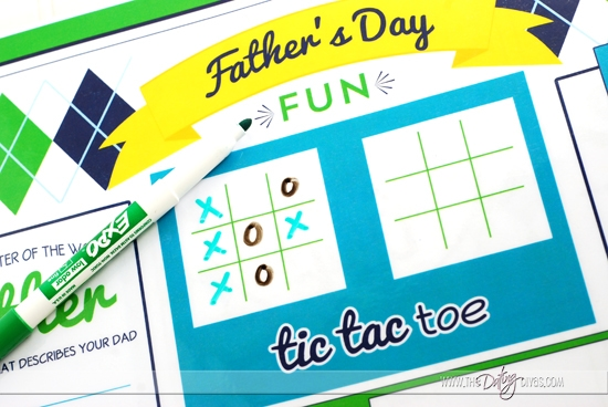 Father's Day Placemat Games & Activities