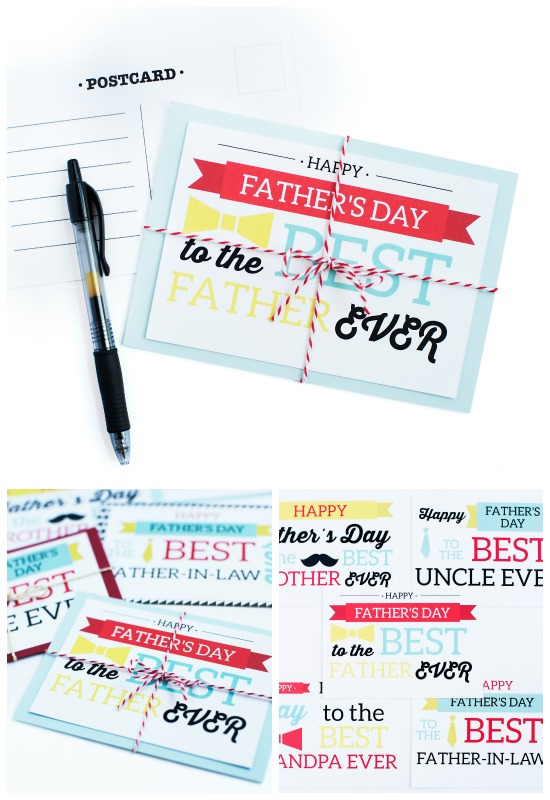Father's Day Postcard Collage