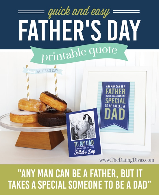 Father's Day Breakfast In Bed Printable Quote