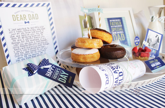 Father's Day Breakfast In Bed Kit with Printables