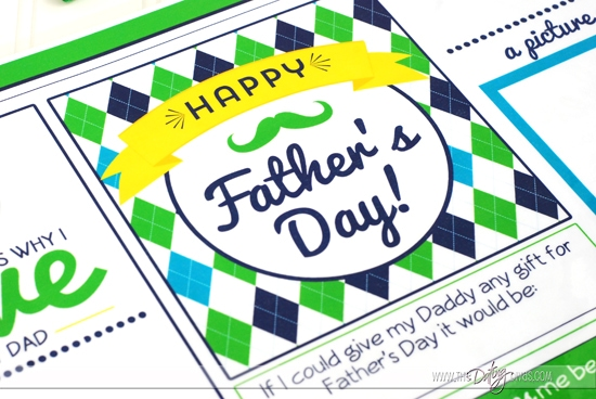 Father's Day Placemat Gift Idea