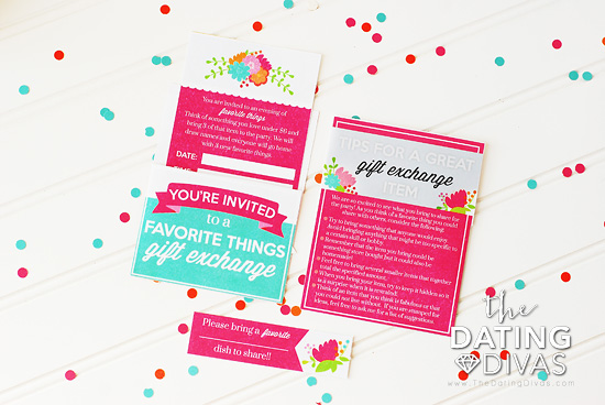 Favorite Things Exchange Party Invites