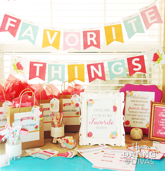 Favorite Things Party Full Printables